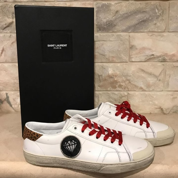 928aaeb3b89c YSL Yves Saint Laurent Mens Court Classic White